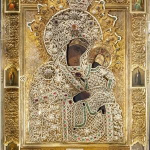 Риза Коневской иконы Божией Матери. 1893 г. Коневский монастырь