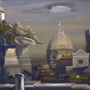 Г.В.Намеровский. Флоренция. 2007-12г.  67х81 Картон, темпера