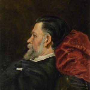 С.И.Крамская-Юнкер. Портрет И.Н. Крамского.1887
