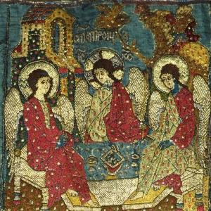 Святая Троица. Фрагмент пелены. 1499 г.