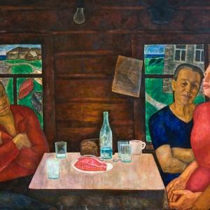 Г.С.Мызников. Северная песня 1966 Холст, темпера 130х150 Историко-художественный музейный комплекс, Новочебоксарск