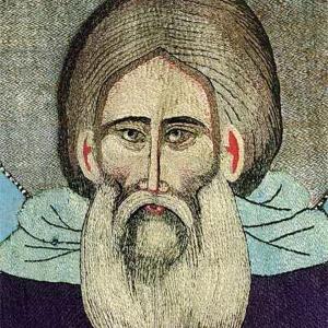 Преподобный Сергий Радонежский. Фрагмент надгробного покрова. Около 1422 г. (?)