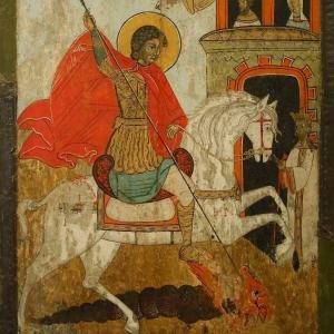 Чудо Георгия о змие. XVIII в. Происходит из часовни в Кяснаселка
