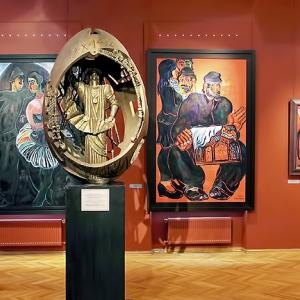 МВК РАХ Галерея искусств Зураба Церетели (Москва, Пречистенка,19). Залы парадной анфилады второго этажа.