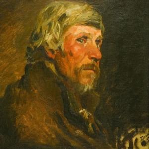 Н.Н.Ге. Портрет крестьянина. 1887
