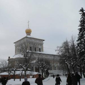 Трапезная палата с церковью Сергия 1686-1689 г. Современный вид.