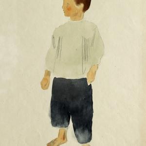 А.Ф. Пахомов. Мальчик. 1925-27. Бумага, акварель