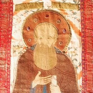 Покров на раку прп. Арсения Коневского. Коневский монастырь. Сер. XVI в
