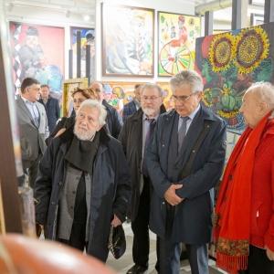 Встреча Президента РАХ З.К.Церетели с Президентом РАН А.М.Сергеевым в Переделкино